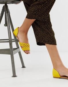 Туфли на плоской подошве Qupid-Желтый