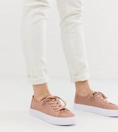 Бежевые кроссовки на шнуровке ASOS DESIGN - Dusty-Бежевый