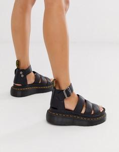 Черные сандалии на толстой подошве Dr Martens Clarissa II-Черный