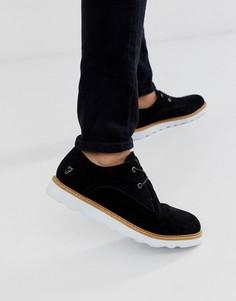 Черные кожаные туфли со шнуровкой Farah-Черный