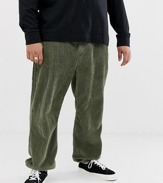 Вельветовые брюки с манжетами COLLUSION Plus-Зеленый