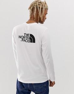 Белый лонгслив The North Face Easy