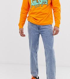 Светлые выбеленные джинсы в винтажном стиле COLLUSION - x004-Синий