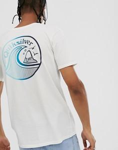 Белая футболка Quiksilver Faded Potentail-Белый