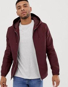 Бордовая спортивная куртка с капюшоном ASOS DESIGN-Красный