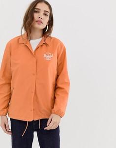 Складывающаяся спортивная куртка с логотипом на спине Herschel-Розовый