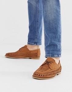 Плетеные светло-коричневые кожаные туфли на шнуровке Office Lambeth-Светло-коричневый