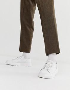 Белые кроссовки с 6 парами люверсов Dr Martens Dante-Белый