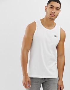 Белая майка с логотипом Nike Club-Белый