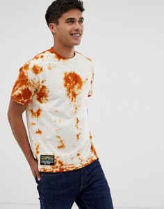 Оранжевая футболка с принтом тай-дай Farah Stein-Оранжевый