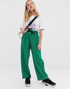 Креповые брюки ASOS WHITE-Зеленый