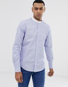 Синяя приталенная рубашка на пуговицах Esprit-Синий
