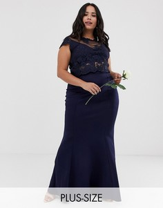 Юбка макси Club L Plus - bridesmaid-Темно-синий