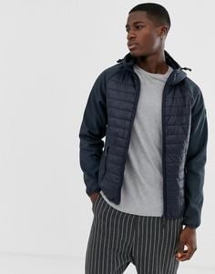 Темно-синяя стеганая куртка Esprit-Темно-синий