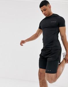 Черные шорты-леггинсы для бега из быстросохнущей ткани ASOS 4505-Черный
