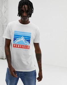 Белая футболка с принтом логотипа Penfield-Белый