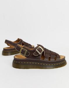 Темно-коричневые сандалии Dr Martens 8092 Arc-Коричневый