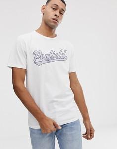 Белая футболка с круглым вырезом и логотипом на груди Penfield Mendona-Белый