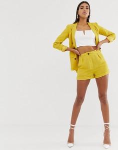 Шорты с завышенной талией Fashion Union-Желтый