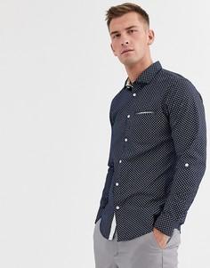 Приталенная рубашка с длинными рукавами Selected Homme salford-Синий