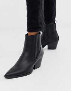Черные ботинки челси на среднем каблуке Pimkie-Черный