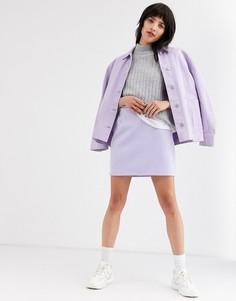 Сиреневая мини-юбка Weekday Kathy-Фиолетовый