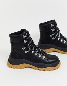 Черные походные ботинки Monki-Черный