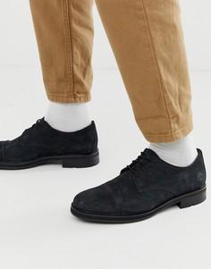 Черные кожаные туфли на шнуровке Timberland-Черный