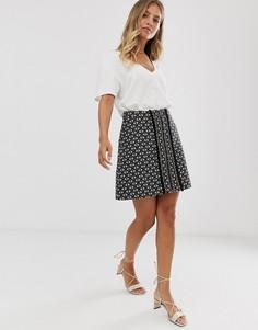 Мини-юбка из ткани букле Sass & Bide-Черный