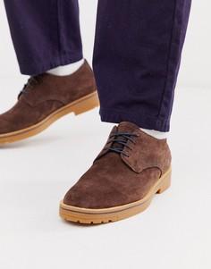 Коричневые замшевые туфли на шнуровке Timberland-Коричневый