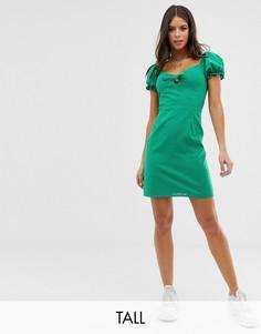 Платье мини с завязками Glamorous Tall-Зеленый
