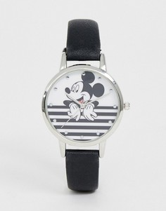 Черно-белые часы с Микки Маусом Disney-Черный