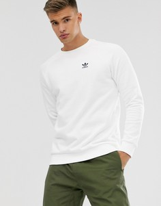 Белый свитшот с маленьким логотипом adidas Originals