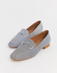 Туфли в полоску на плоской подошве ASOS DESIGN Mile-Мульти