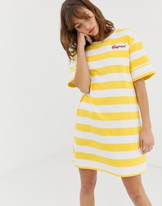 Платье-футболка в полоску Penfield Jax-Желтый