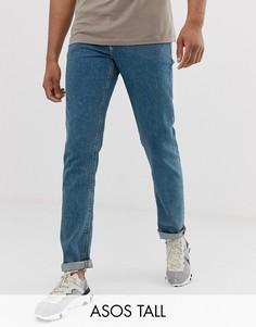Выбеленные узкие джинсы ASOS DESIGN Tall-Синий