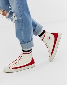 Белые кроссовки с красными вставками Converse Chuck Taylor Sasha Vintage-Красный
