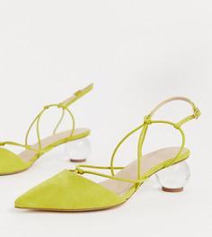 Туфли на каблуке для широкой стопы ASOS DESIGN Sunset-Зеленый
