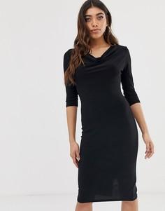 Платье миди со свободным воротом Lipsy-Черный