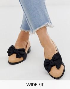 Бежевые туфли для широкой стопы на плоской подошве ASOS DESIGN Matchsticks-Бежевый