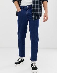 Темно-синие классические джинсы ASOS DESIGN-Синий