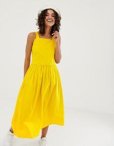 Летнее платье из органического хлопка Kings Of Indigo-Желтый