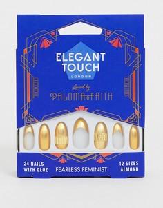 Накладные ногти Elegant Touch X Paloma Faith - Fearless Feminist-Золотой