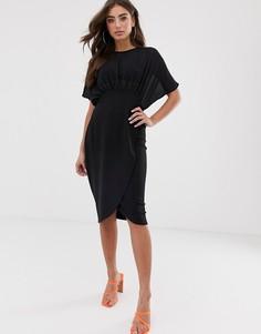 Платье-футляр миди ASOS DESIGN-Черный