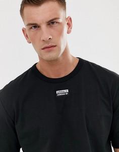 Черная футболка с логотипом в центре adidas Originals - RYV-Черный