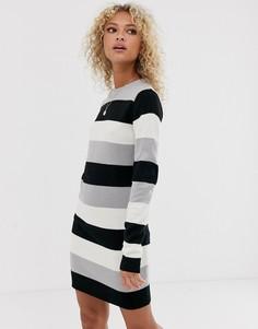 Платье-джемпер с круглым вырезом Brave Soul Grungy-Серый