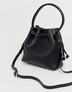 Маленькая сумка-тоут из искусственной кожи Melie Bianco-Черный