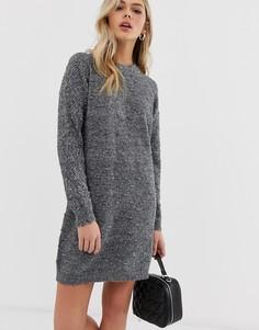 Вязаное платье-джемпер с шишечками JDY Dotta-Черный