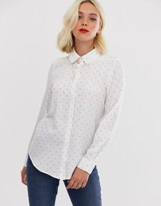 Рубашка с принтом Brave Soul-Белый
