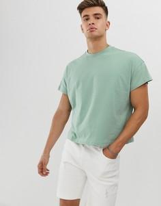 Зеленая oversize-футболка с короткими рукавами ASOS DESIGN-Зеленый